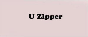 U zipper