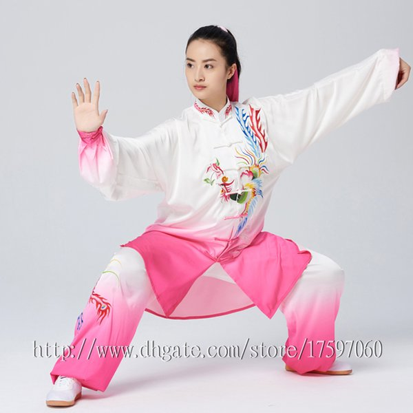a34ad8ad0 Chinese Taichi clothes Kungfu uniform Taijiquan competition suit Qigong  outfit Phoenix embroidery garment for women men