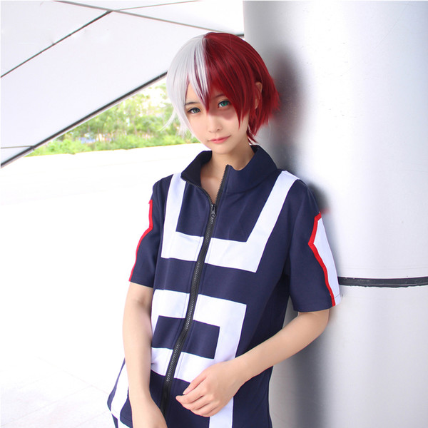 Anime No Hero Bakugou Katsuki Iida Tenya Todoroki Shouto Cosplay Costume My Hero Academia Sportswear Tops Pants Japan Cosplay Costume Cosplay Costumes