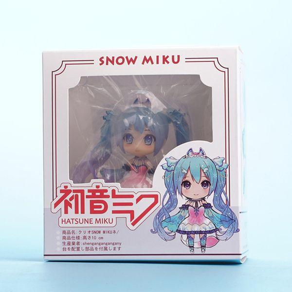 Anime Girl Figure Special Edition Snow Hatsune Q Version Clay Doll Miku Hatsune Future Anime Action Figure Model