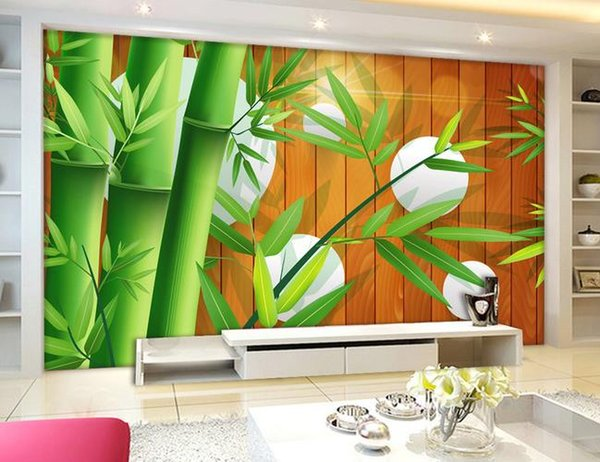 Refreshing bamboo forest three-dimensional wallpaper wall mural photo wallpaper