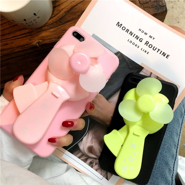 Lovely Pink Panther Phone Cover for IPhone X 8 7 6s Plus with fan Strap Shell for IPhoneX Back Cover
