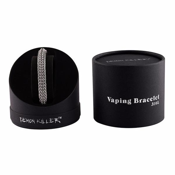 100% подлинный демон убийца Vaper браслет ручной работы 316 л серебряный цвет удивительный лучший прохладный дизайн подходит Vaping DHL бесплатно
