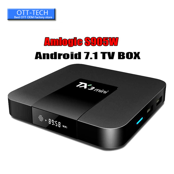 Amlogic S905W Quad Core TV BOX TX3 mini 1GB 8GB Internet Android 7.1 TV Boxes 17.6 Wifi DLNA LED Screen display BETTER X92 T95Z