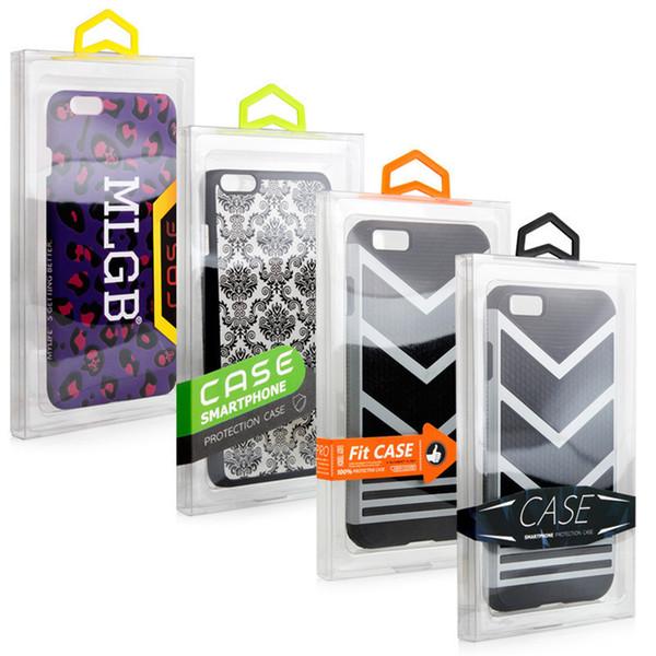 300 pcs Moda Blister PVC Embalagem De Varejo De Plástico Transparente Logotipo Personalizado Embalagem Caixa Para TELEFONE 6 4.7 5.5 Caso de Telefone Móvel STY017