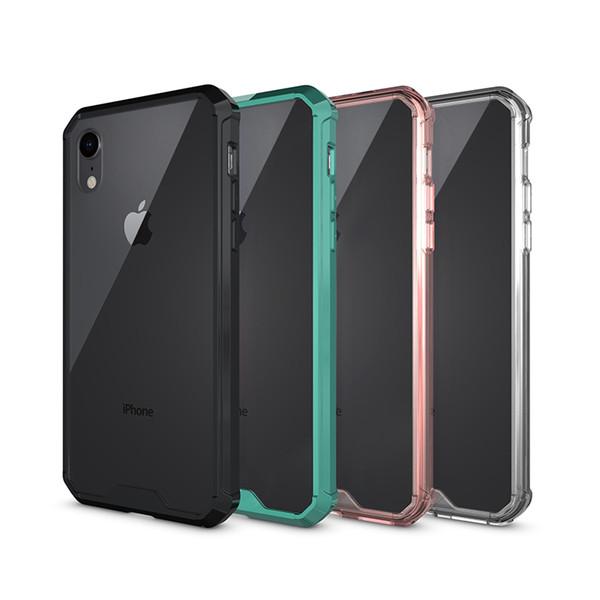 Pour Apple iPhone XS MAX XR 8 7 Slim Antichoc Transparent Couverture Arrière Pour Samsung S8 Moto G6 LG K10 K8