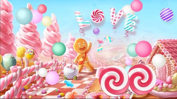 Christmas Candyland Backdrop.2019 7x5ft Clouds Sky Pink Candyland Love Ice Cream Candy Bar Beans House Custom Photo Studio Background Backdrop Vinyl 220cm X 150cm From