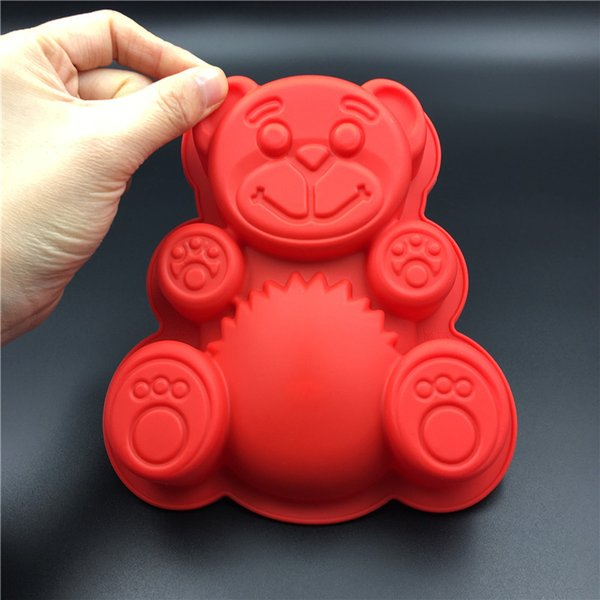 PEIPINGKE Single Bear Shaped Silicone Cake Mold Handmake DIY Bread Mould Silicone Moulds For Cake Tools