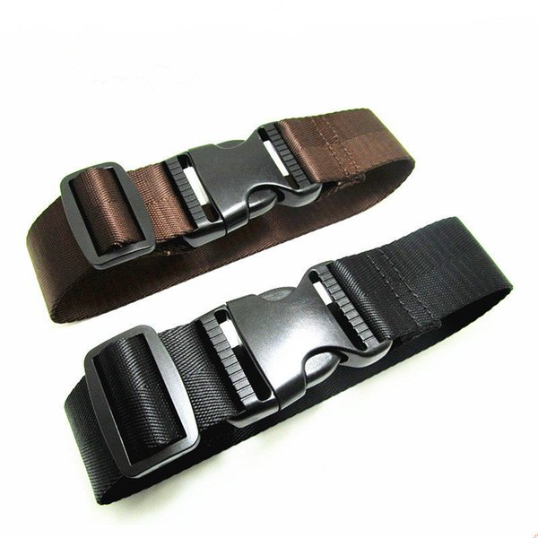 2pcs 38mm*50cm Travel Luggage Strap Nylon Weave Belt with Buckle Cord Fixing Band