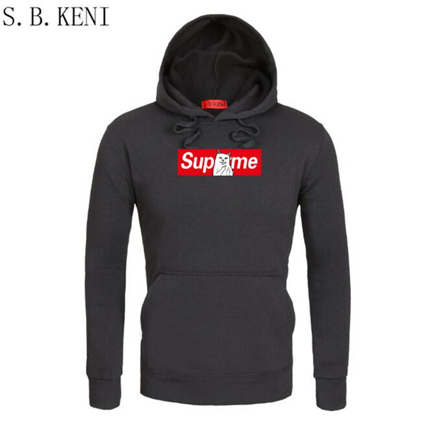 2018 Winter Autumn Hip Hop Hoodies and Sweatshirts Savage Letter Printed Hoodies Men Pullover Outerwear  Clothing Hooded