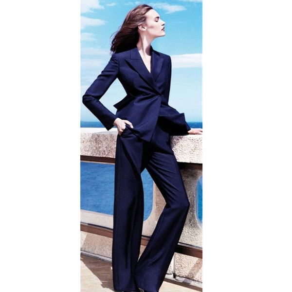 Now the most popular new fashion ladies suit two-piece (jacket + pants) ladies business dress support customization