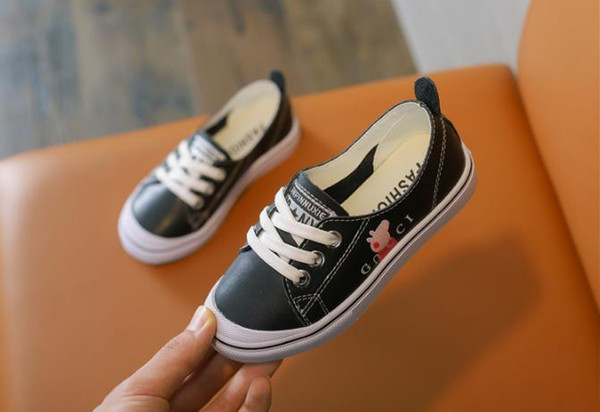 Children s Sports Shoes Best-selling Summer Leather New Boy Sports Leisure Girls 2 Colour Sizes 26-37 Small White Shoes