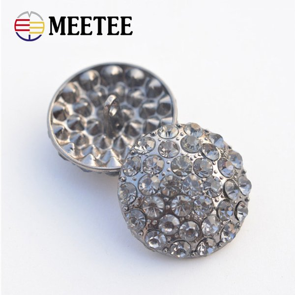 50pcs/lot Metal Shank Rhinestone Buttons For Wedding Embellishment Alloy Decorative Pearl Buttons For Craft AP2275