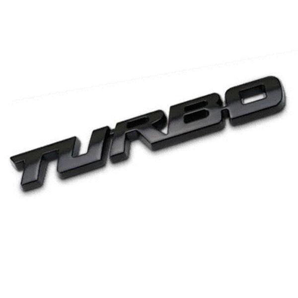 3D Voiture Style Autocollant En Métal TURBO Emblème Corps Arrière Porte-Badge Pour Ford Focus 2 3 ST RS Fiesta Mondeo Tuga Ecosport Fusion