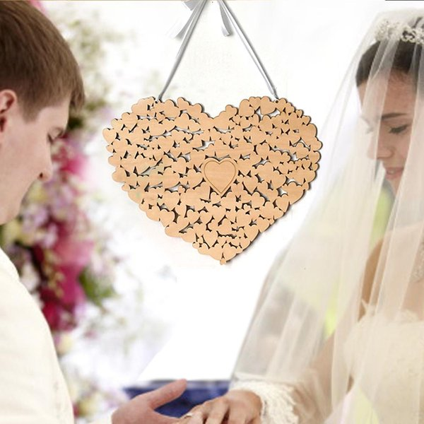 Acheter Livre D Or De Mariage En Forme De Coeur En Bois Alternative Pendaison Coeur Mariage Livre D Or Mariage Decorations De Mariage De 24 72 Du