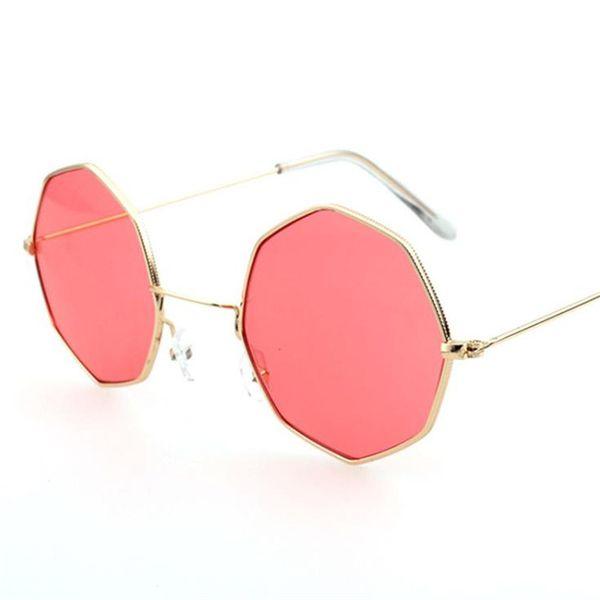 Moda mujer hombre gafas de sol Polígono Gafas de sol Marco de la aleación Anteojos mini triángulo decorativo Anti-UV gafas A ++