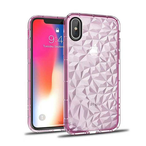 Looks 3D Diamond Phone Case for iPhone 11 Pro Max X 8 7 6S Plus 5S Luxury Clear Soft TPU Cover Phone Protector