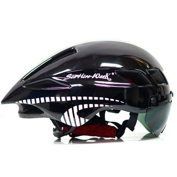 2018 Mtb Mountain Road Bike Bicycle Helmet Lens Visor Glass Capacete Da Ciclismo Cascos Ciclismo Cycling Helmet Lens Integrally