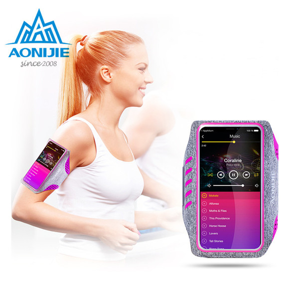 AONIJIE Running Bag mobile phone Touch screen arm Belt movement of the arm wrist bag package male female fitness equipment