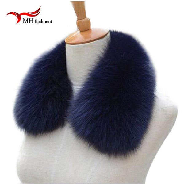 Real fox Fur Collar Scarf Womens Shawl Wraps Shrug Neck Warmer Black Stole Wholesale Hot sale Ring Scarf Womens L#11 Y18102010