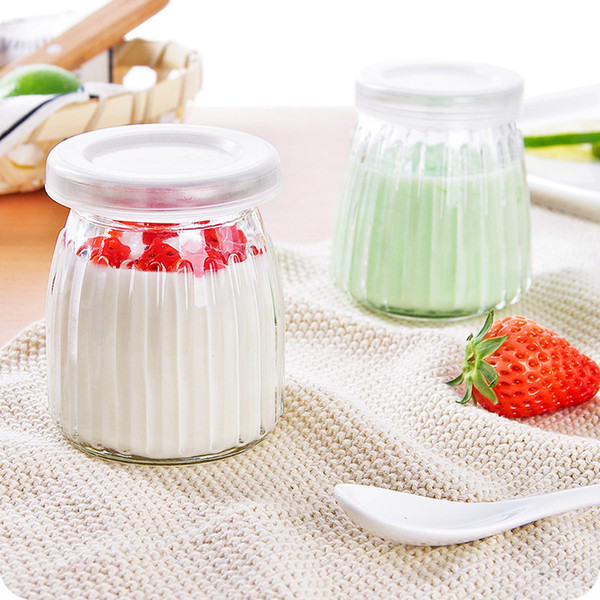 4pc/lot High temperature vertical yogurt jelly mousse with glass homemade milk pudding bottle cup candy bottle