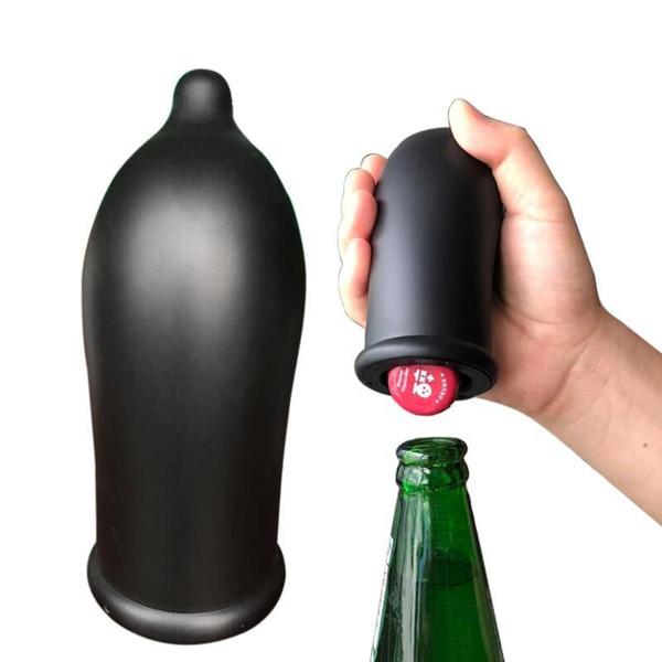 Automatische Flaschenöffner Schwarz ABS Metall Auto Bier Soda Press Flaschenöffner Neue Kreative Bar Küchenwerkzeuge