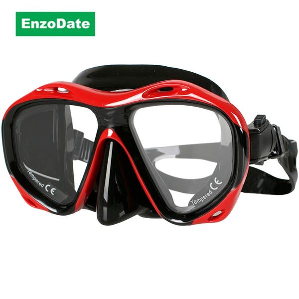Optische Tauchmaske Hyperopie Myopie Snorkel Goggles, verschiedene Rezept für jedes Auge, weitsichtige kurzsichtig Scuba