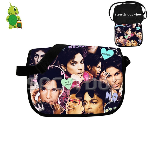 Famous Rock Star Prince Rogers Nelson Collages Messenger Bag Women Men Crossbody Handbag School Shoulder Bags for Teenagers