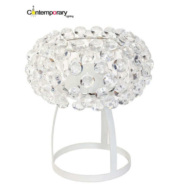 Transparent gold yellow Replicas Table Lamp Acrylic ball Table Light for Desk Lamp Modern Simple Style Study Loft bedroom