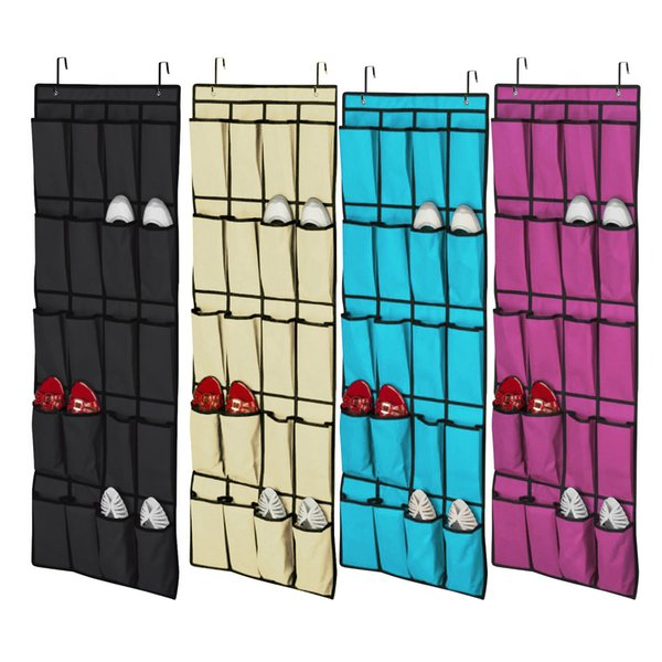 FREE SHIPPING Top selling 20 Pocket Non-woven Fabric Over the Door Shoe Organizer Space pace Saver Rack Hanging Storage Hanger FREE SHIPPING