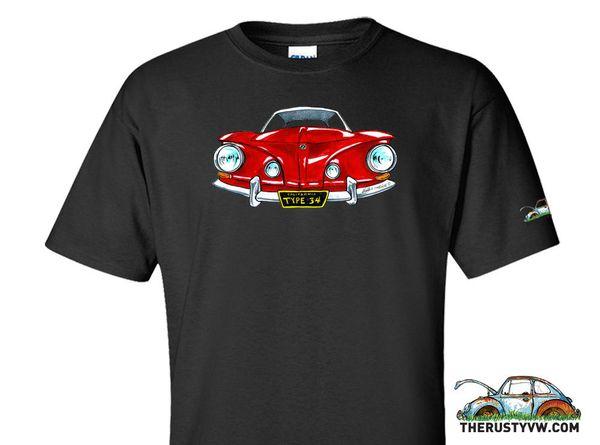 "Details zu The Rusty VW T-shirt: ""Type 34"" Type 34, ghia, razor Funny free shipping Unisex Casual tee top"