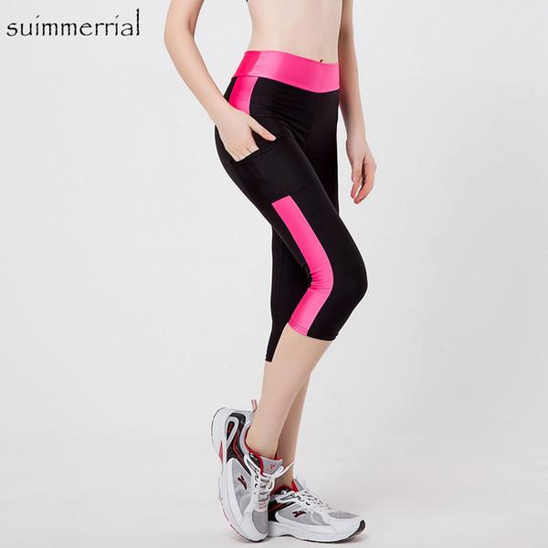 5XL Frauen Sexy Seitentasche Striped Leggings Fitness Capri Hosen Reflektierende Leggins Schlank 9 Stile Workout Schnell trocknend Hosen