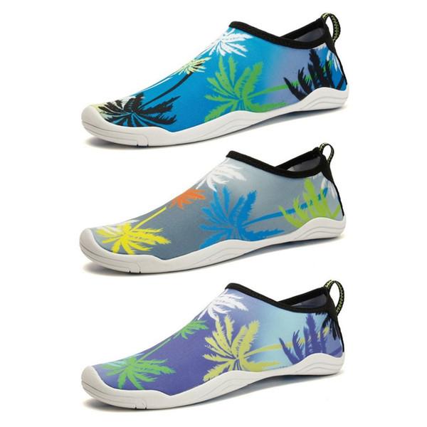 Calzado para buceo al aire libre Calcetines de agua unisex transpirables Calzado ultraligero de natación de secado rápido para caminar en la playa Yoga