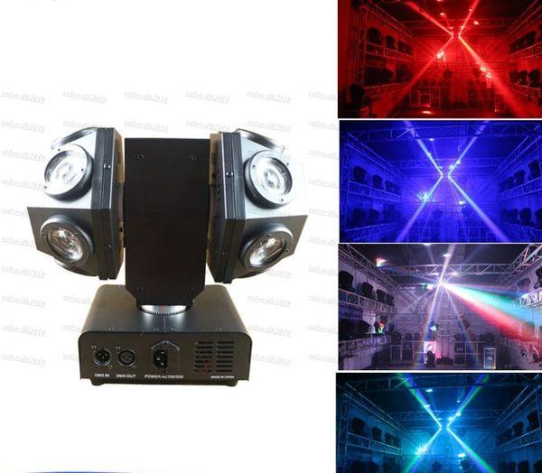 Mini 12x10W RGBW 4IN1 LED Head Moving Head Beam Double Arms Stage Lights Disco Club Bar DJ lighting With LLFA