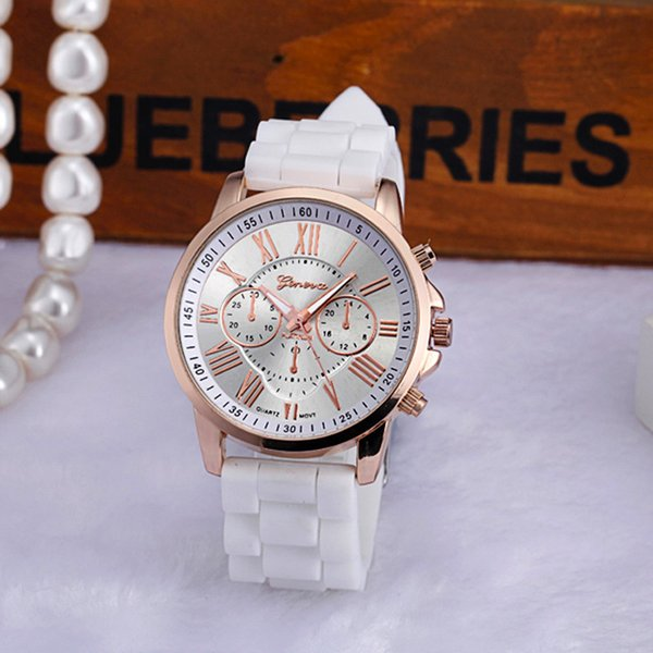 2018 New Casual Geneva Women Watches Bracelets Roman Numerals Silicone Jelly Gel Quartz Analog Wrist Watch Men Clock Reloj Mujer