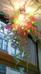 Hecho en China Factory Outlets Green Pink LED Murano Glass Lamp Chandeliers 100% boca soplada borosilicato decoración del hogar