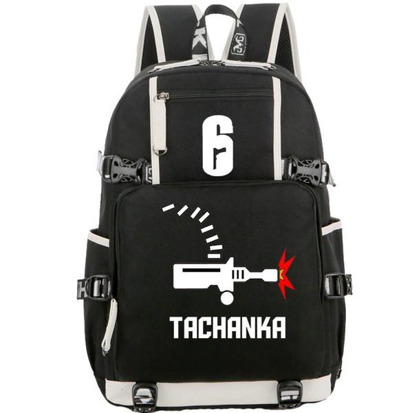 Tachanka backpack Rainbow six siege school bag Alexsandr Senaviev daypack 6 game laptop schoolbag Outdoor rucksack Sport day pack