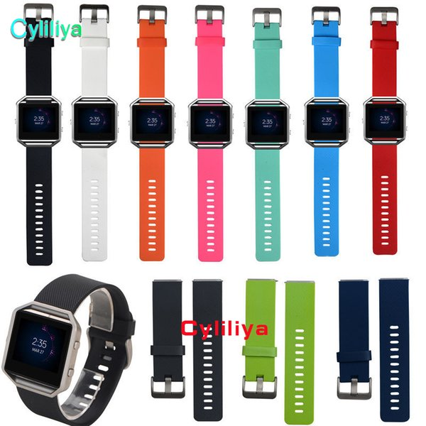 Replacement Soft Silicone Wrist Band Strap Bracelet Watchband for Fitbit Blaze Sport Watch Wristband (No Tracker)