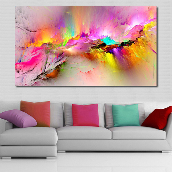 1 Panel Oil Painting Wall Pictures For Living Room Home Decor Abstract Clouds Colorful Canvas Art Home Decor No Frame