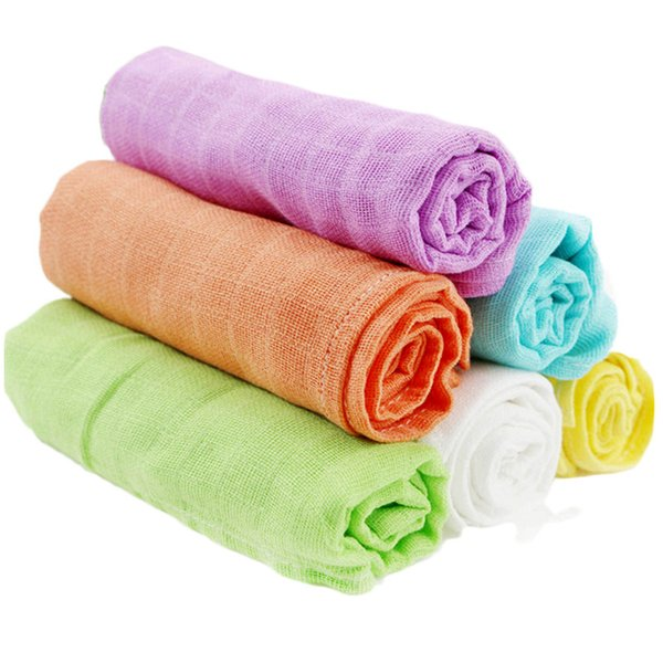 10 Pieces Baby Nappy 60*60 cm 100% Muslin Cotton Reusable Newborn Diapers Baby Repeated Use Gauze Cloth Nappy