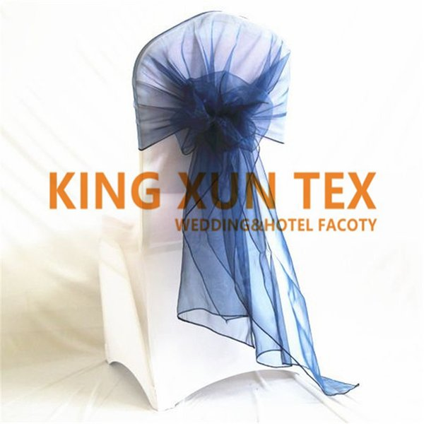 Wholesale Price Organza Chair Cap \ Hood Chair Sash For Wedding Chair Cover Decoration Free Shipping