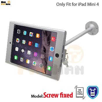 tablet pc display flexible gooseneck wall mount holder stand for iPad mini 4 security safe locked metal box foothold support