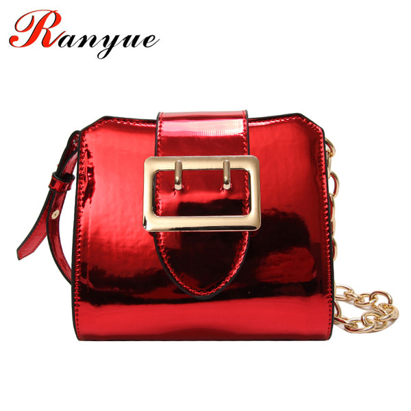 RANYUE High Quality Patent Leather Handbags 2018 New Spring Summer Crossbody Bags For Women Chains Flap Messenger Bag Ladies