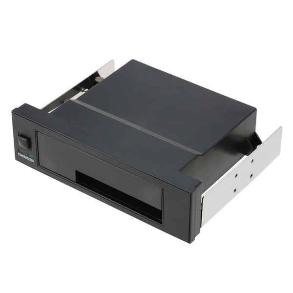 Internal Single Bay Mobile Rack Enclosure with LED Indicator Light Support Hot-swap for 2.5/3.5inches SATA HDD SSD Fit PC 5.25''