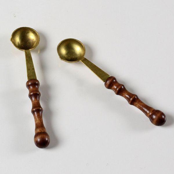 2 шт./лот старинные деревянные ручки воск ложка печать сургучом ложка анти горячий воск ложка подарок