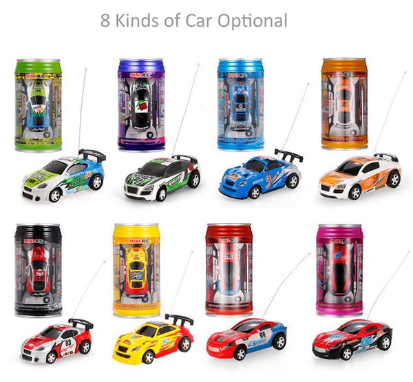 New Free Shipping Epacket 8 Color Mini Racer Remote Control Car 8803 Coke Can Micro Racing Mini 1:64 Radio RC Car RTR