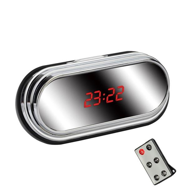 32GB HD 1080P 5MP Mirror Digital Clock Camera Mini Security DVR Mini Camcorders Long Time Recording Multi-function Video Camera with Remote