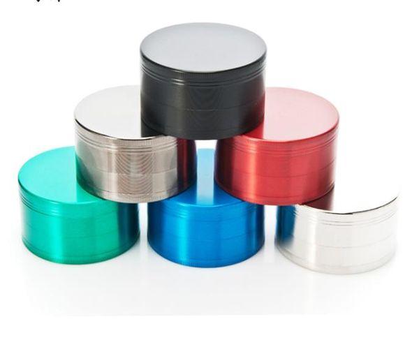 Flat zinc alloy four layer cigarette lighter 75mm new metal smoke grinder
