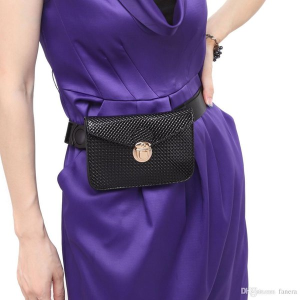 Fashion Simple Pu Leather Waist Packs for Lady Travel Belt Bag High Quality Women Waist Bags British Casual Phone Fanny Pack