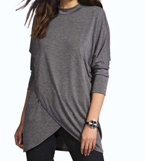 d1f788ea8c6 plus size clothing batwing shirt Promo Codes - Wholesale Women Cotton T- shirts Crew Neck